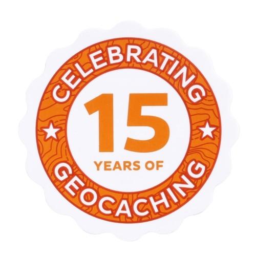 15 jahre Geocaching Sticker