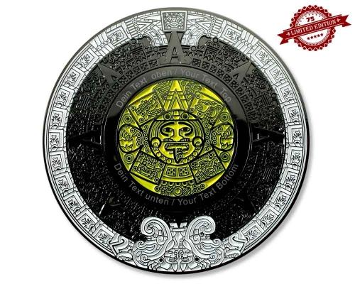 50 Jähriger Kalender Geocoin V2 Black Nickel  Gravur