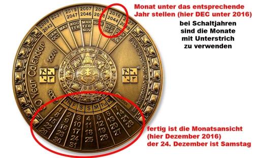 50 Jähriger Kalender Geocoin V2 Anleitung