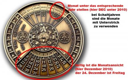 50 Years Calendar Anleitung