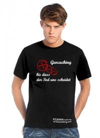 Geocaching T-Shirt | Bis dass der Tod uns scheidet