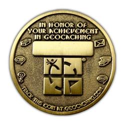 Geo Award Geocoin - 2000 Finds Back
