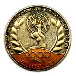 Award Geocoin - 2000 Finds