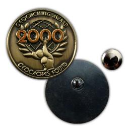 Geo Award GeoPin - 2000 Finds