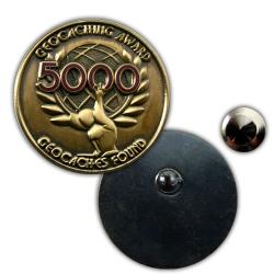 Geo Award Geocoin - 5000 Finds Pin