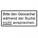 Geocaching T-Shirt Geocacher bitte nicht ansprechen Design