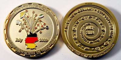 100k Cache Germany Geocoin
