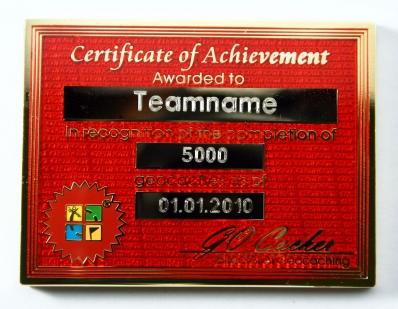Certificate Geocoin