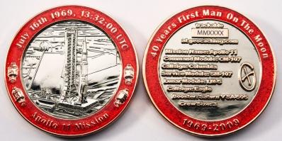 20 Years Man on the Moon - Start Geocoin