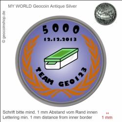 Award Geocoin - Vorlage für deinen persönlichen Geocoin