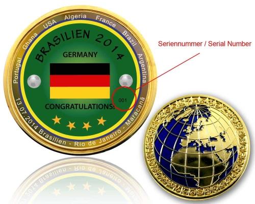 Deutschland Weltmeister Geocoin Seriennummer