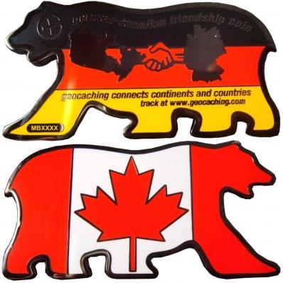 German Canadian Friendship Geocoin
