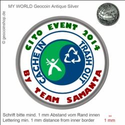 CITO Event Geocoin - Vorlage für deinen persönlichen Geocoin