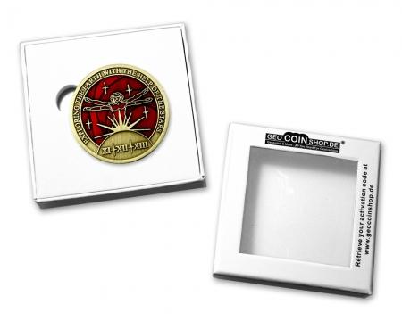 Coin Schatulle 1.75 Zoll mit Geocoin
