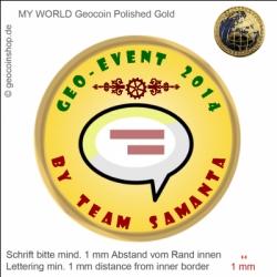 Event Geocoin - Vorlage für deinen persönlichen Geocoin