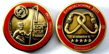 Extremcaching 2011 Geocoin Antik Gold