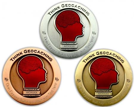 All In One Geocoin mit Gravur