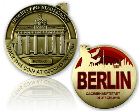 Berlin Geocoin Antik Gold RE