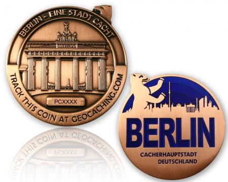 Berlin Geocoin Antik Kupfer XLE