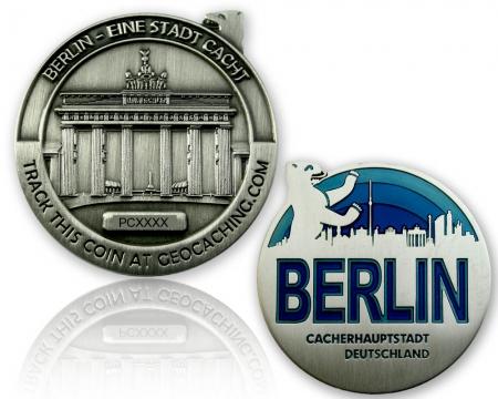 Berlin Geocoin Antik Silber RE