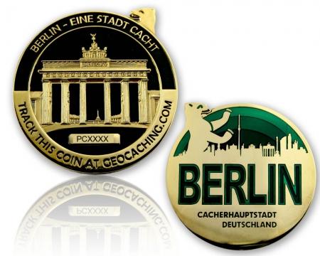 Berlin Geocoin Black Nickel / Gold XLE