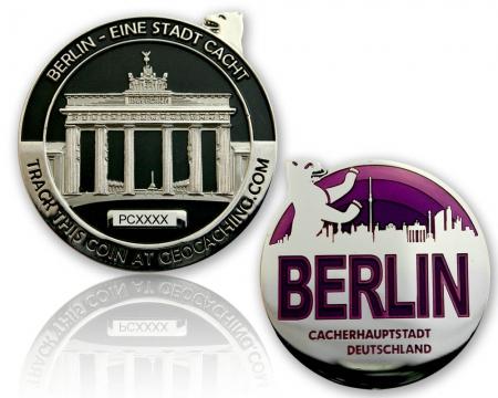 Berlin Geocoin Black Nickel / Silber XLE