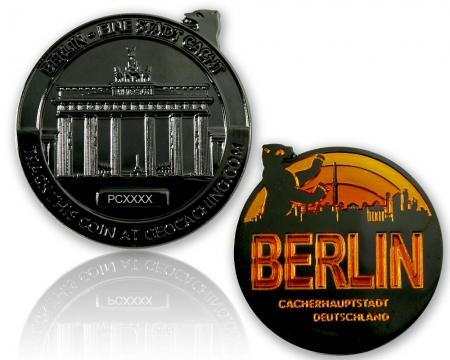 Berlin Geocoin Black Nickel LE