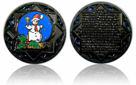 Weihnachten 2011 Geocoin Black Nickel LE