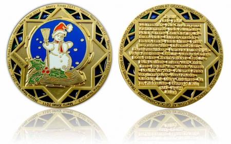 Weihnachten 2011 Geocoin Satin Gold XLE