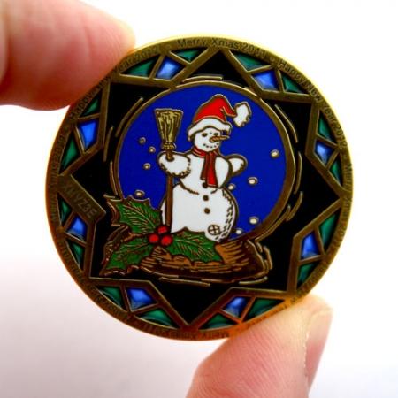 Weihnachten 2011 Geocoin Durscheinende Farben