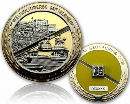 Deutsches Eck Geocoin Silber / Gold LE 100