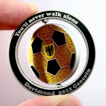 Dortmund 2012 Geocoin drehbar