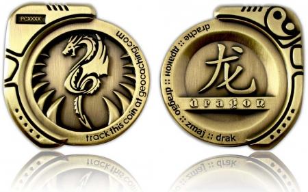 Dragon Geocoin Antik Gold XLE