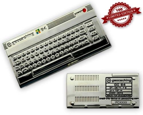 C64 Geocoin Silver Edition LE 100