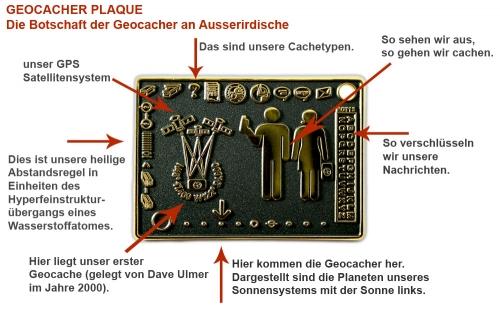 Geocacher Plaque Erklärung