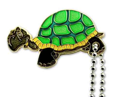 Geoturtle - Schildkrötengeocoin-Erna - als Schlüsselanhänger