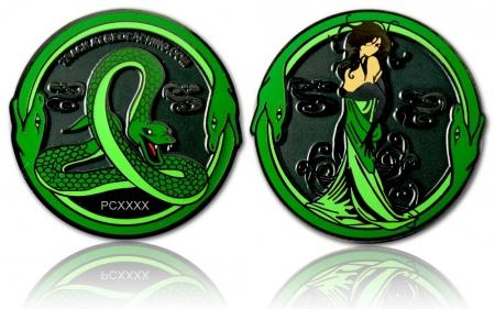Green Mamba Geocoin Black Nickel XLE