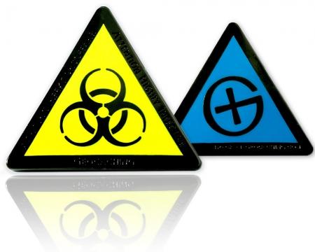Highly Infective Geocoin Black Nickel Blau XLE 75