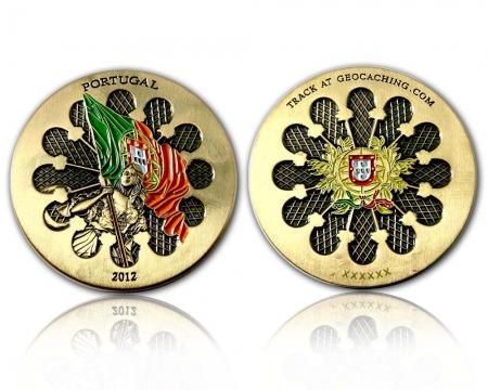 Portugal 2012 Geocoin Antik Gold RE