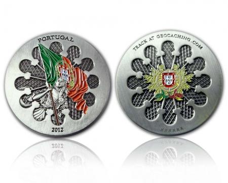Portugal 2012 Geocoin Antik Silber RE