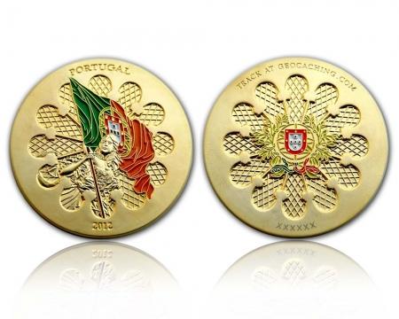 Portugal 2012 Geocoin Satin Gold XLE