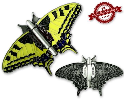 Silber Schmetterling Geocoin