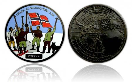 100 Jahre Südpol Entdeckung Geocoin Black Nickel  XLE