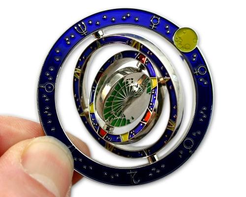 Gyroscope Geocoin kardanische Aufhängung