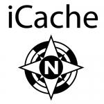 Geocaching T-Shirt iCache Kompassrose Design