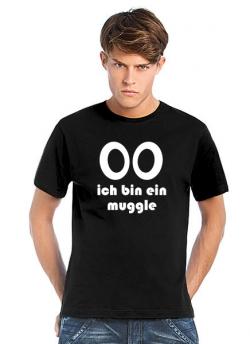 Geocaching T-Shirt Ich bin ein Muggle schwarz