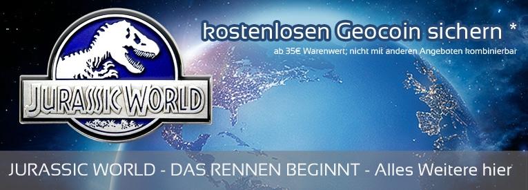 rsjurassic world slider de Blitzverlosung: 3 Geocoins zu gewinnen!