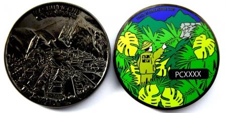 Machu Picchu Geocoin Black Nickel XLE