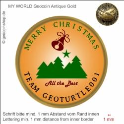 Merry Christmas 2013 - Vorlage für deinen persönlichen Geocoin