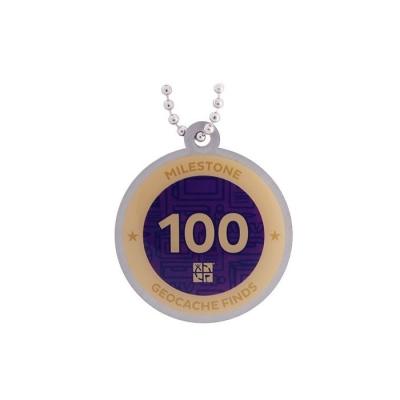 Milestone Geocoin - 100 Finds